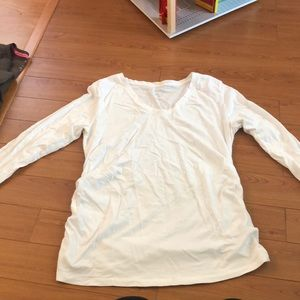 Isabel maternity white long sleeve top